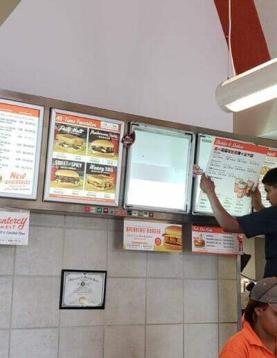 interior menu boards intallation houston